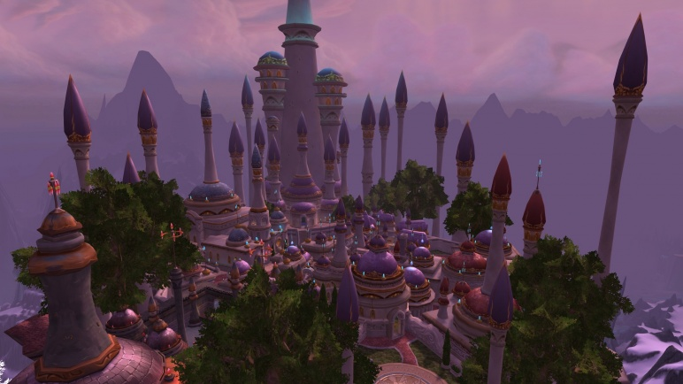 View of the new Dalaran